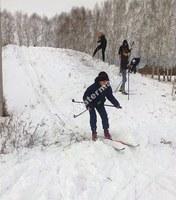 Прогулка теннисистов на лыжах